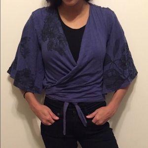 Urban Outfitters kimono crop top